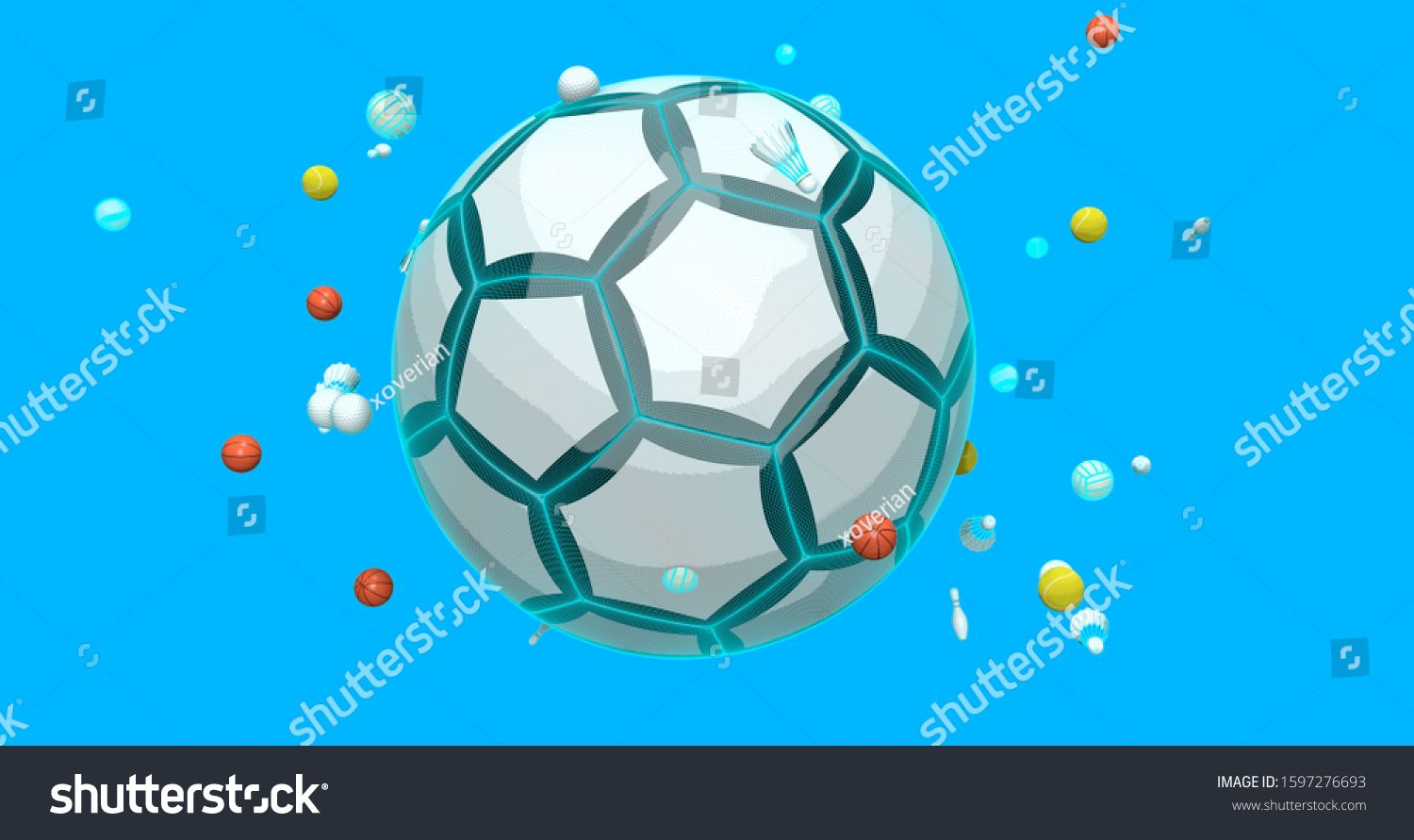 Sports Elements Soccer Ball Shuttercock Tennis Royalty Free Image Illustration Soccer Ball Soccer Sports