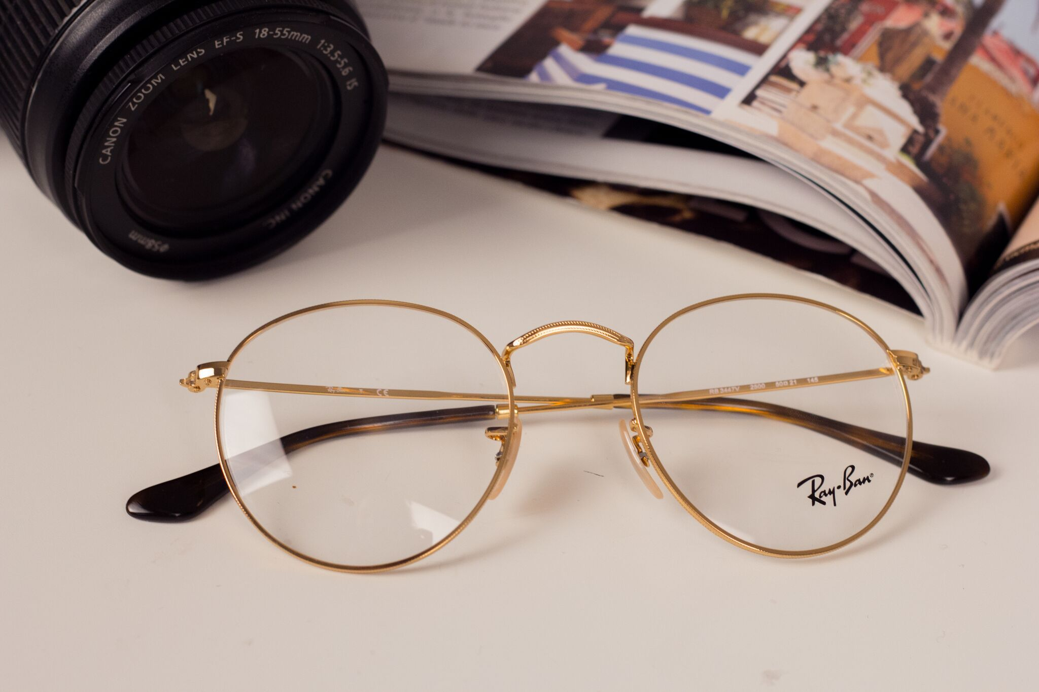 8c15a8951a7 The Ray-Ban RX3447V Round Metal 2500 glasses are an unparalleled choice for  all old-school lovers out there. Circumvented by small Round Metal Frames  which ...