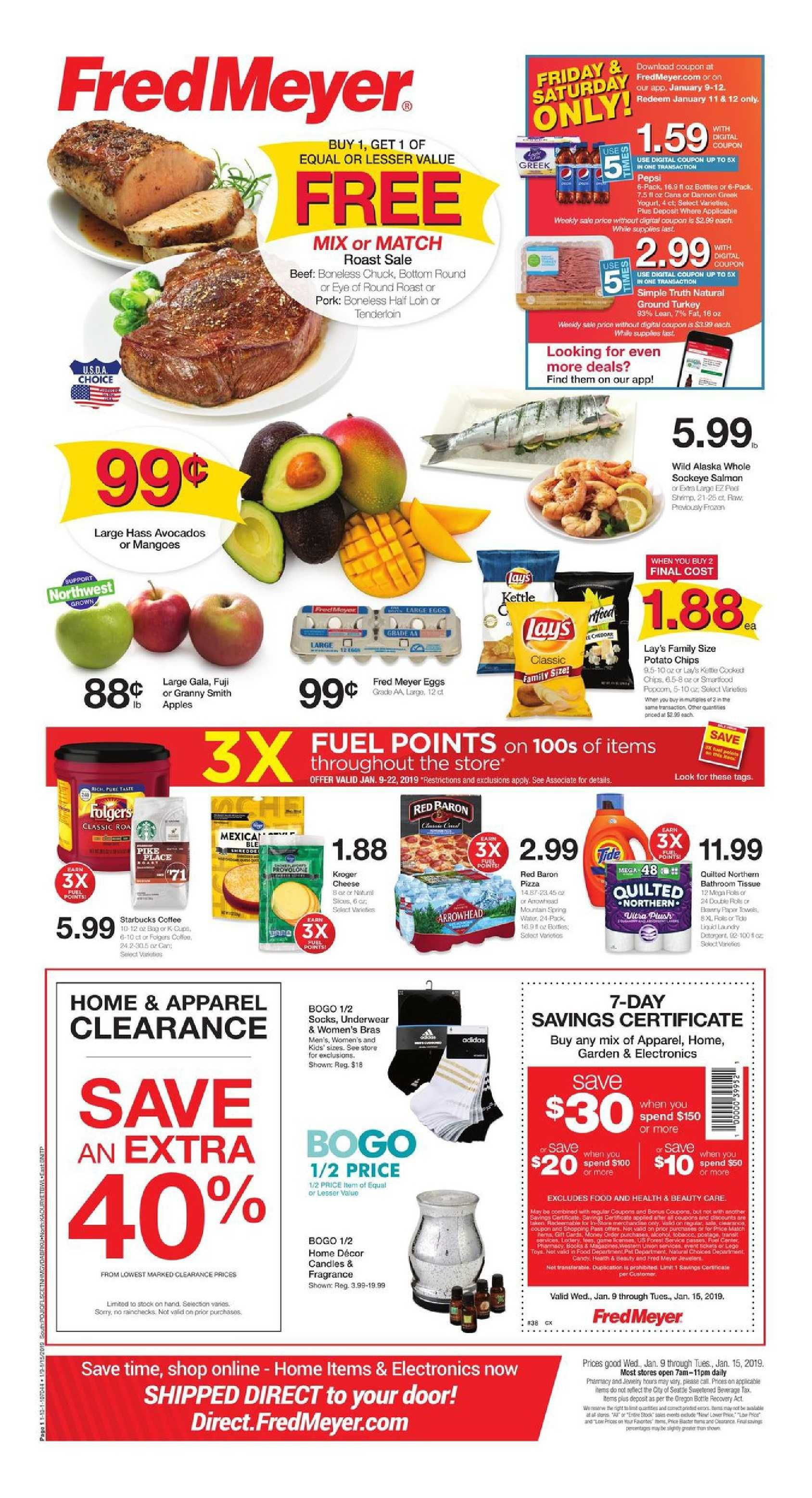 fred meyer weekly coupons