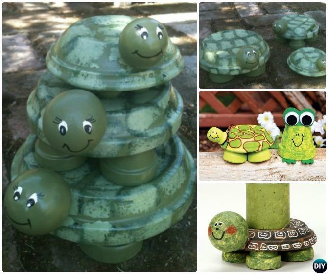 diy clay pot turtle Terracotta Clay Pot Turtle DIY Clay Pot Garden Craft Projects