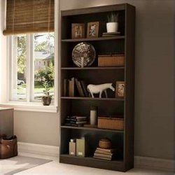 South Shore Axess 5 Shelf Wood Bookcase In Chocolate   Transitional    Bookcases Cabinets And Computer Armoires   Cymax