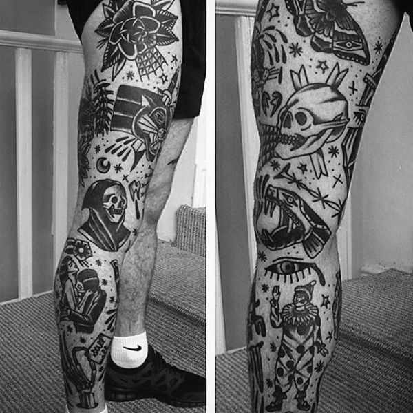 Top 103 American Traditional Tattoos 2020 Inspiration Guide Traditional Tattoo Leg Sleeve Leg Tattoos Traditional Tattoo Sleeve