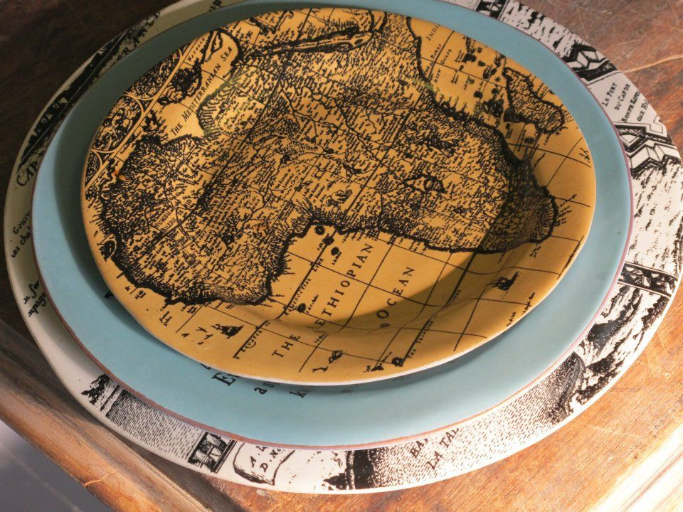 Africa Map Horn Of Africa%0A Handmade bespoke dinnerware sets and decorative vases from Mervyn Gers  Ceramics  South Africa