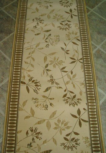 Amz125 Rug Depot Remnant Runners 26 X 6 3 Stanton Empire Argos 68497 Pearl Background Machine Made Of 100 Polypropelene Serged Ends