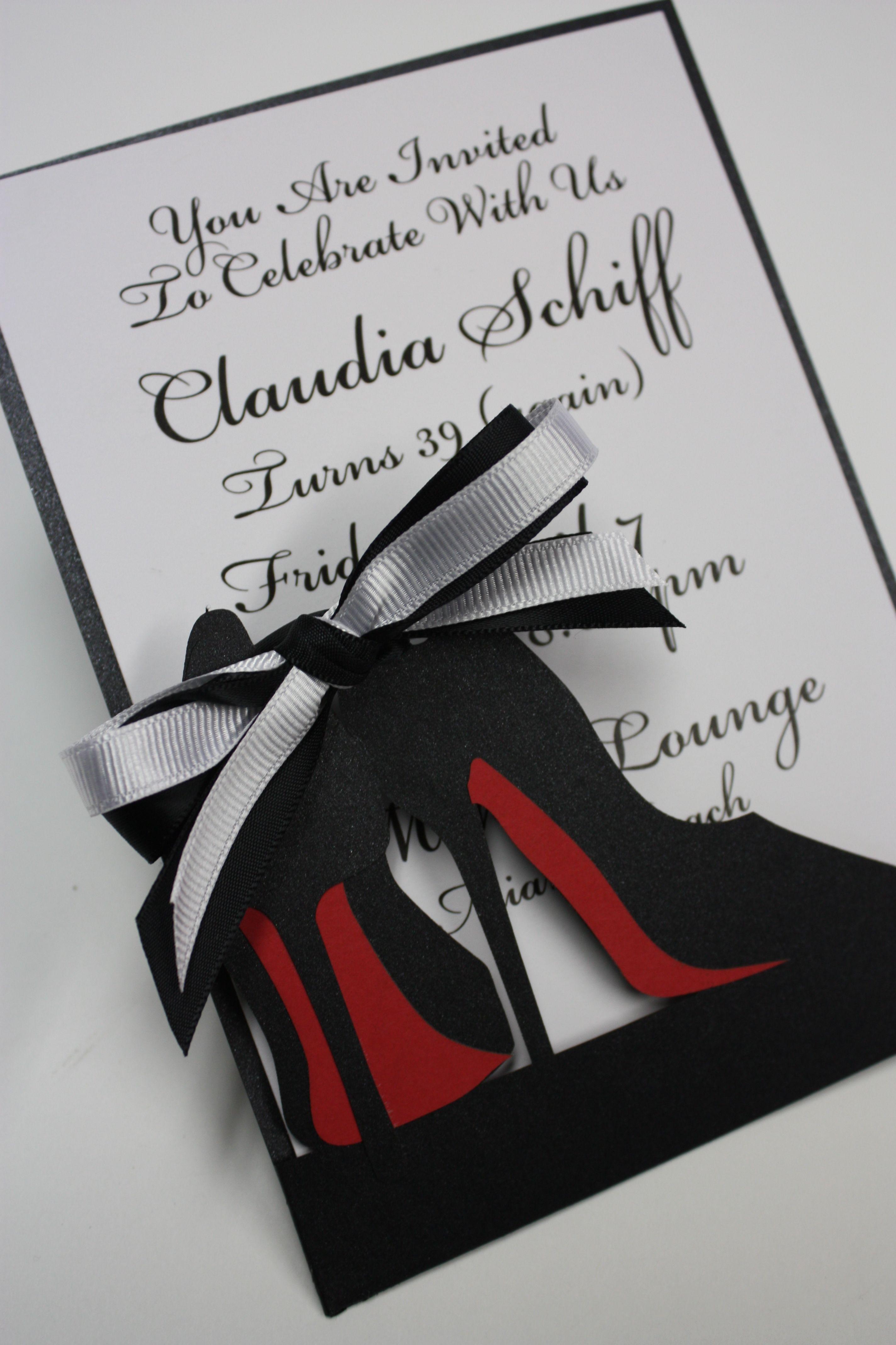 db193fd1586a9d8a97b913b0d6a2a060 high heel fashionista laser cut invitation www katblustudio etsy,Laser Cut Party Invitations
