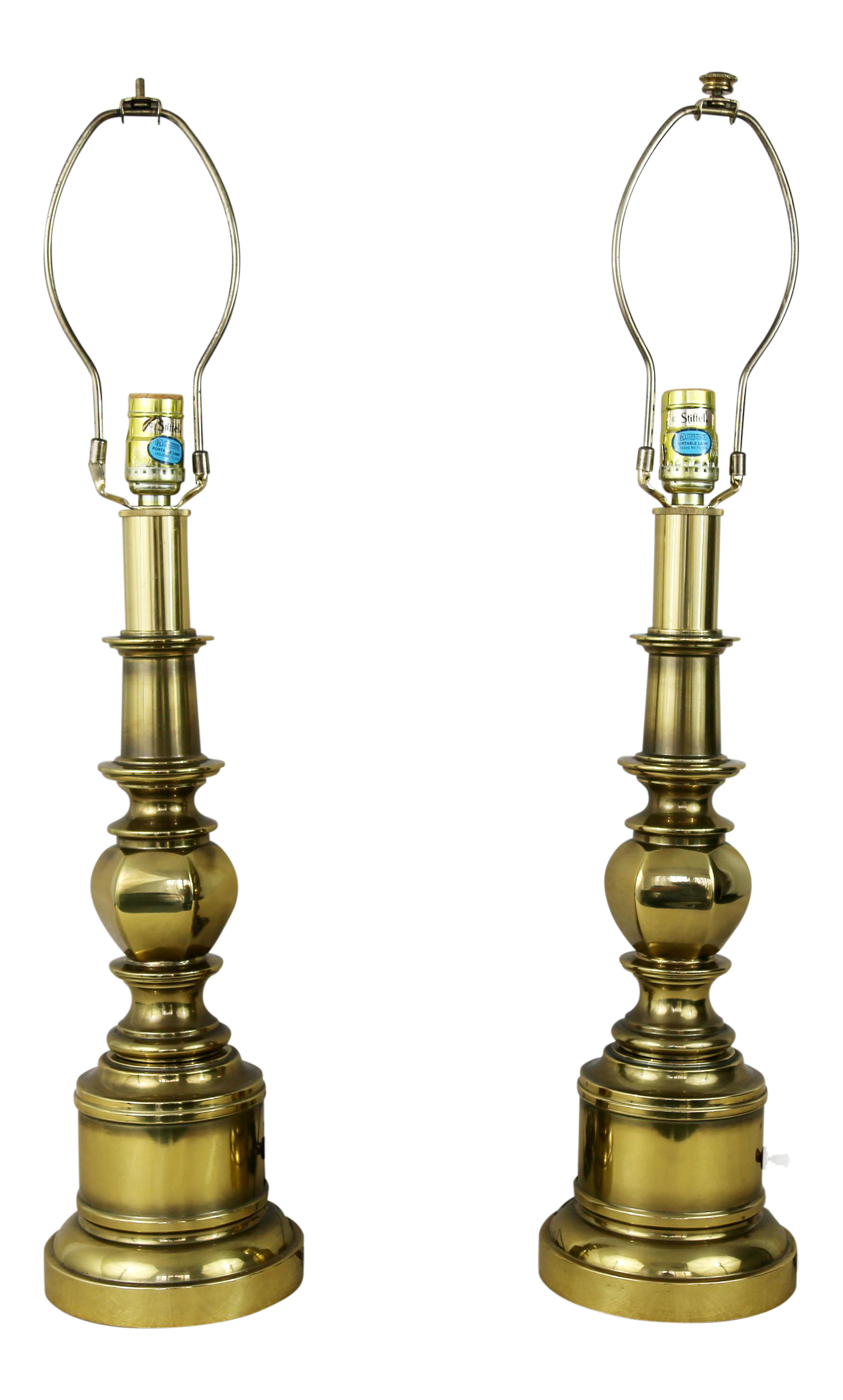 Vintage Stiffel Brass Table Lamps A Pair On Chairish Com