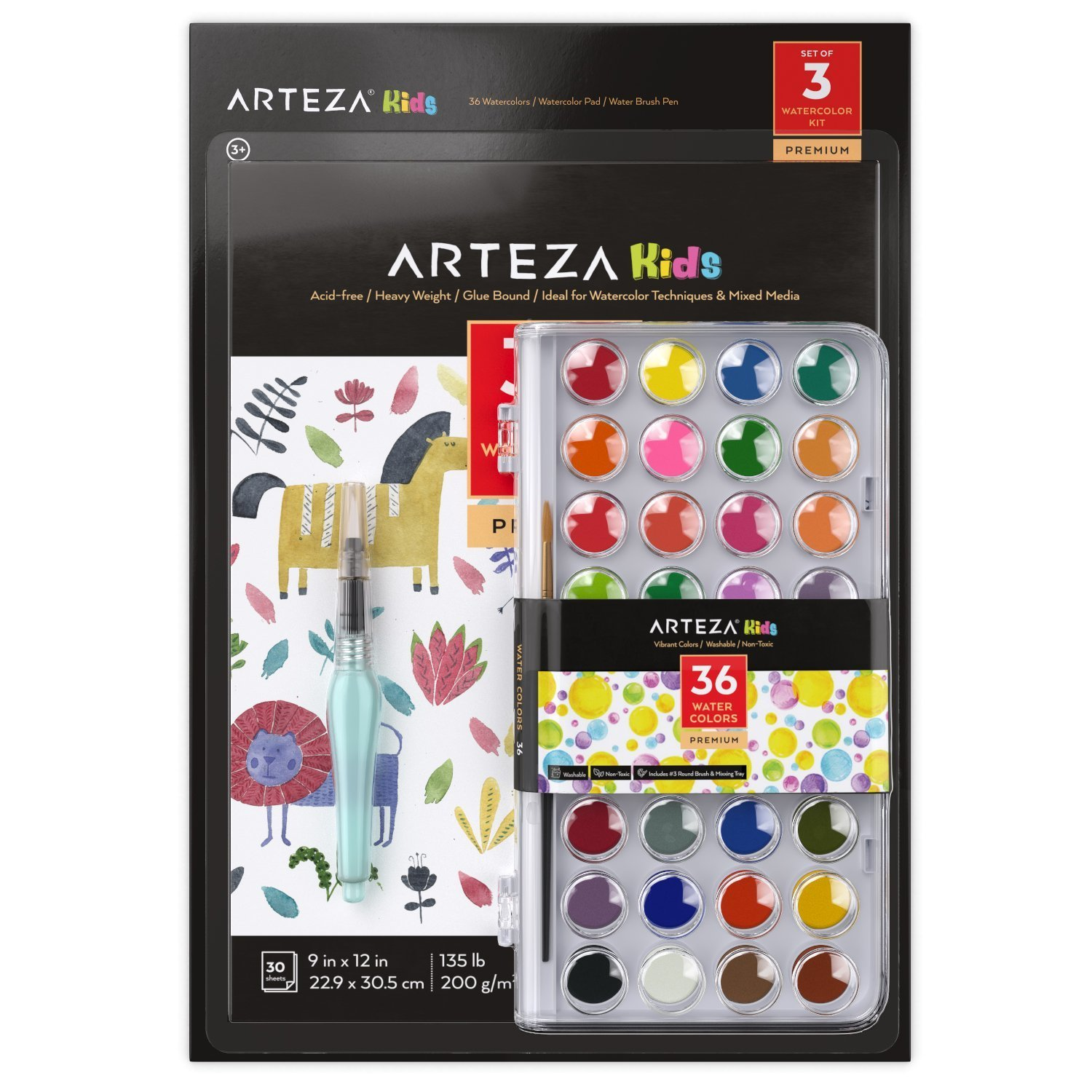 Arteza Kids Watercolor Kit Set Of 3 With Images Kids