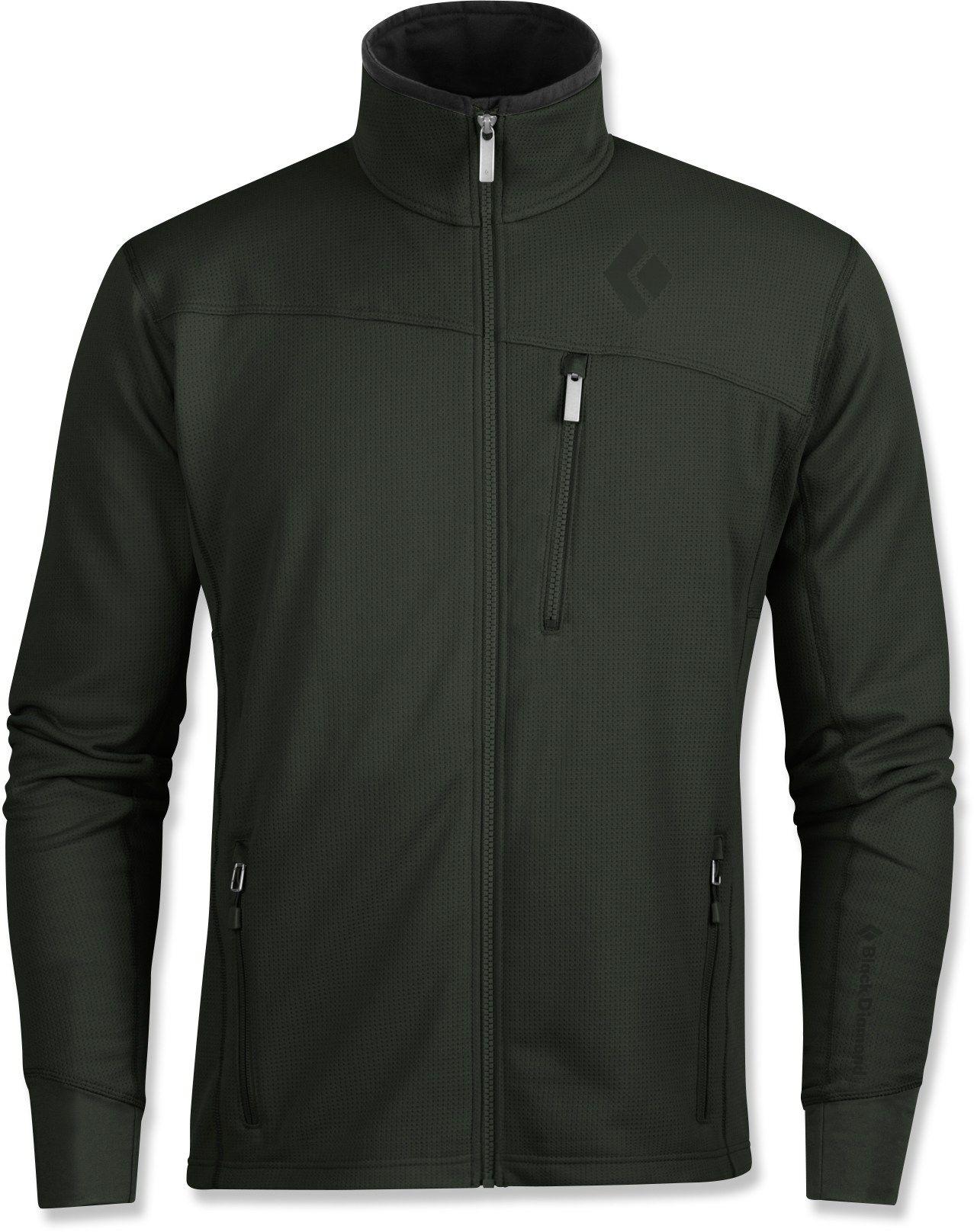 Black diamond male solution fleece jacket menus apparel