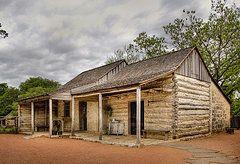 Country Porch Featured Images - Log Cabin in LBJ State Park  by David and Carol Kelly