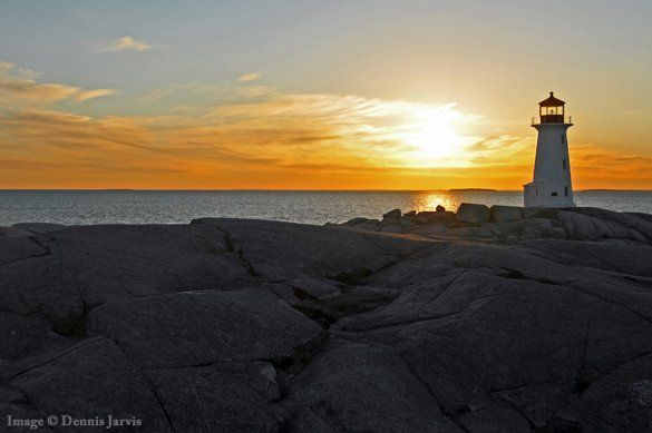 "Picture of the Day:  ""Peggy's Point Lighthouse at Sunset"""