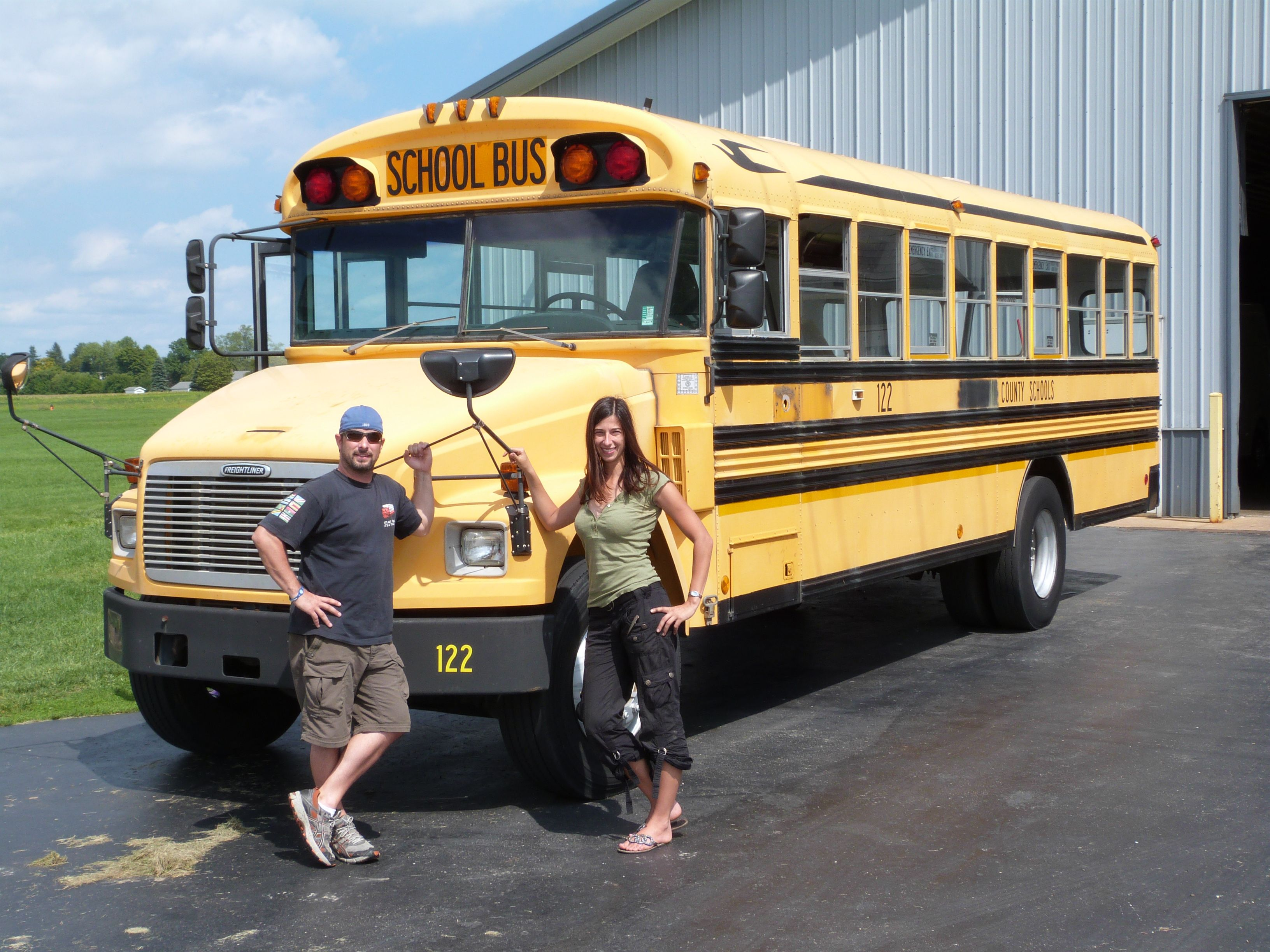 before we started working... remodelling an old school bus into an ...