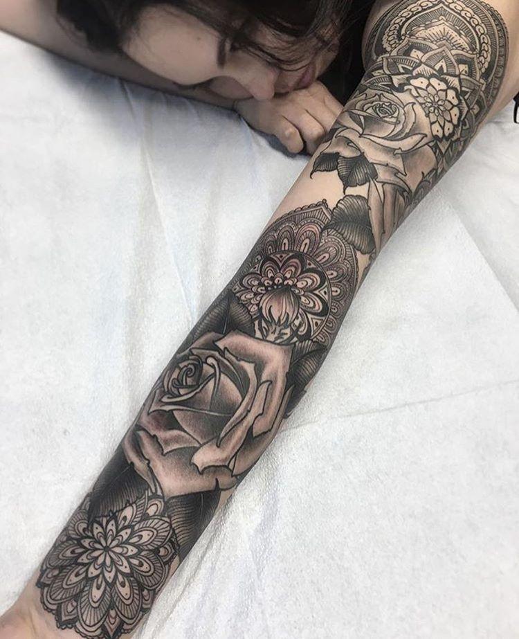 Sleeve by josephhaefstattooer Sleeve tattoos, Sleeve