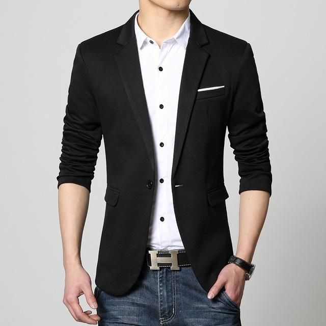 ba942b65fb75 Gender: Men Item Type: Blazers Sleeve Length(cm): Full Style: Smart Casual  Material: Cotton, Polyester Closure Type: Single Breasted Model Number:  FXK-0850 ...