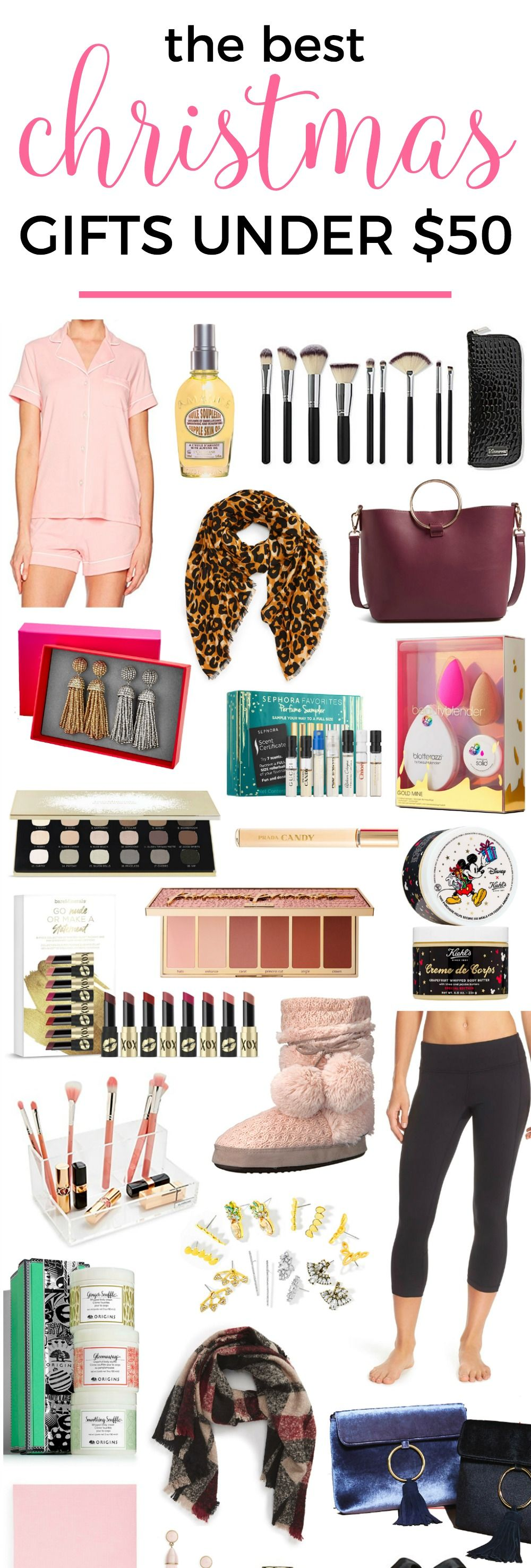 The Best Christmas Gift Ideas Under 50 She S Guaranteed To Love Every Holiday Gift Affordable Christmas Gifts Best Christmas Gifts Christmas Gifts For Women