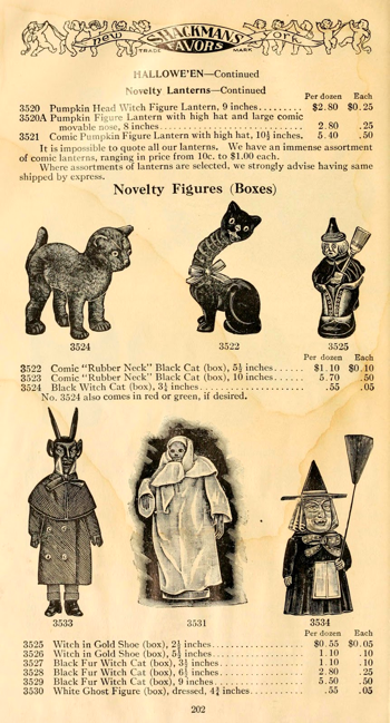 a page from a halloween decoration catalog 1911 tis halloween pinterest decoration and vintage halloween