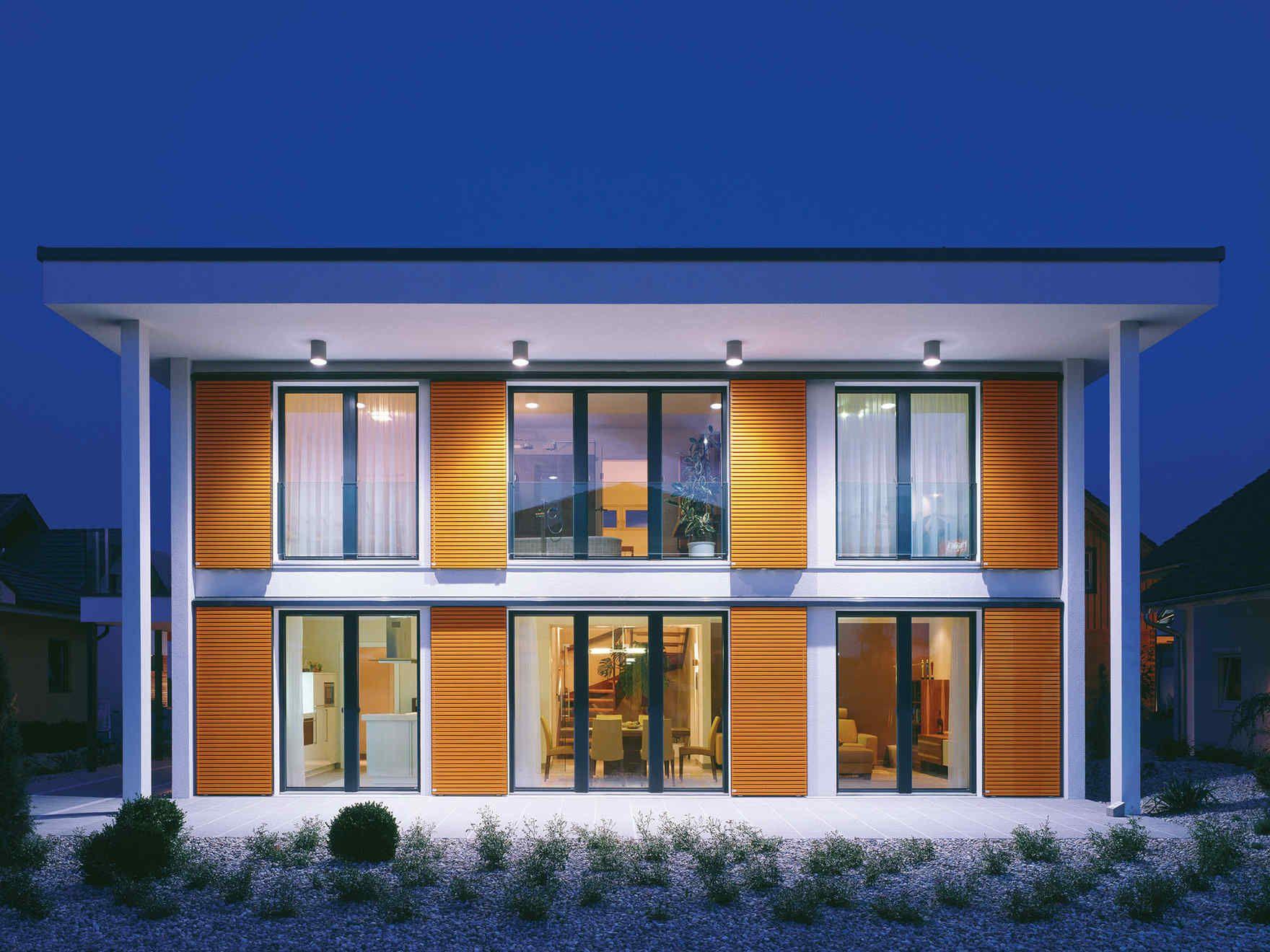 Vario haus sunrise gibtdemlebeneinzuhause einfamilienhaus fertighaus fertigteilhaus - Holzhaus bauhausstil ...