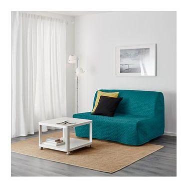 Fantastic Lycksele Murbo Two Seat Sofa Bed Vallarum Turquoise Ikea In Machost Co Dining Chair Design Ideas Machostcouk
