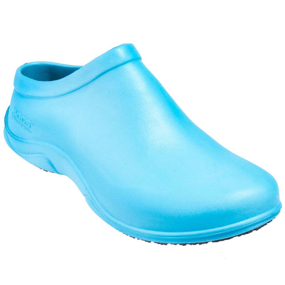 Bogs Women\'s 71799 450 Sky Blue Stewart Waterproof Rubber Slip On ...