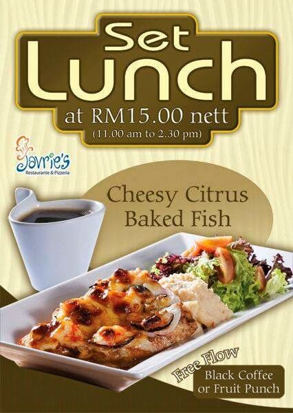 SET LUNCH PROMOTION AT JAVRIE'S    Set Lunch promotion at Rm 15.00 nett at Javrie's (11 am – 2.30 pm) Address: Gurney Paragon 10250 George Town, Malaysia Phone	04-218 9013 Email	javriesparagon@gmail.com   Read more @ http://www.malaysianfoodie.com/2014/04/set-lunch-promotion-javries.html?utm_source=PN&utm_medium=Malaysian+Foodie+Pin&utm_campaign=SNAP%2Bfrom%2BMalaysian+Foodie