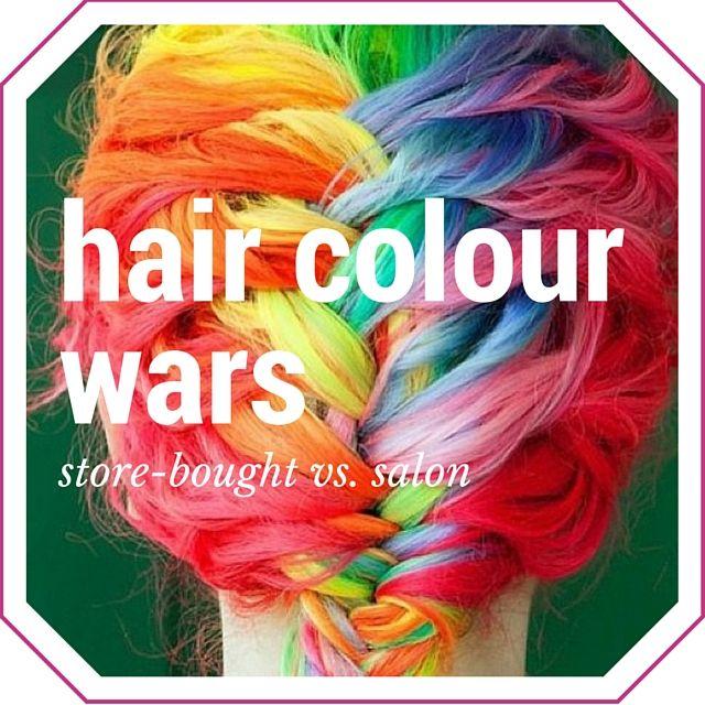 Hair Colour Wars: Store-bought vs. Salon Studio86Salon #haircare #haircolour