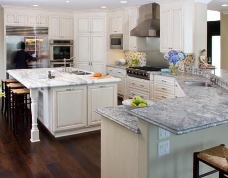 Traditional Island Style White kitchen, white cabinets, $20,000 - $50,000, Brandon Neff, San Diego