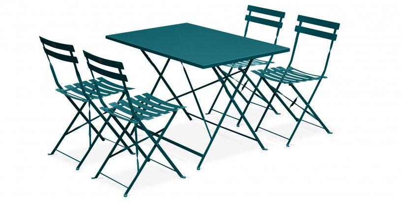 table bistrot exterieur chaise pliante