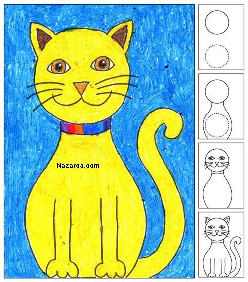 Kolay Kedi Cizimi Yapma Cizimler Cizim Kedi