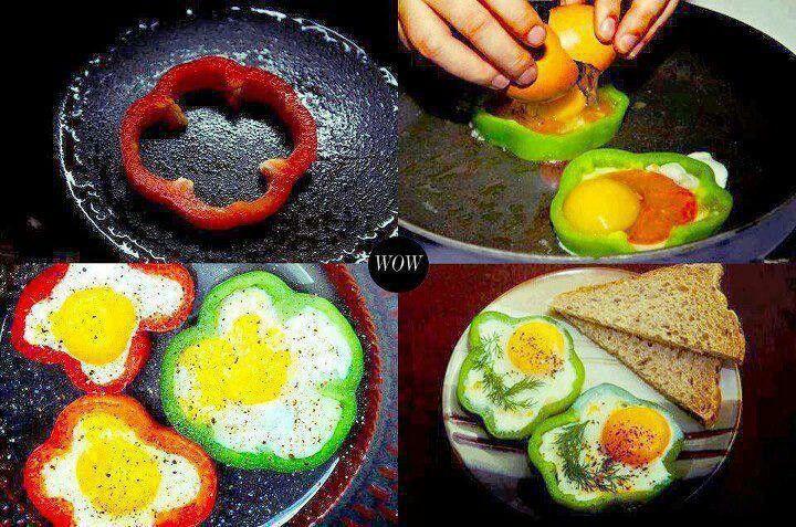 Bell pepper egg shapers