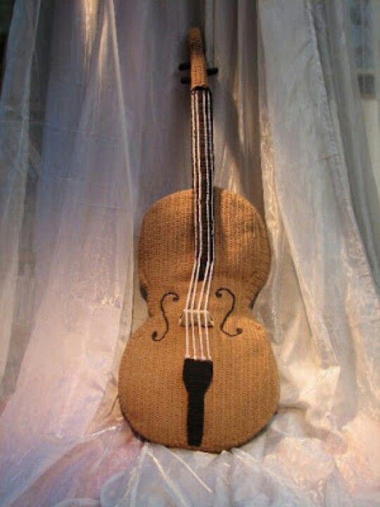 Levensgrote gehaakte cello ♥ big crochet cello