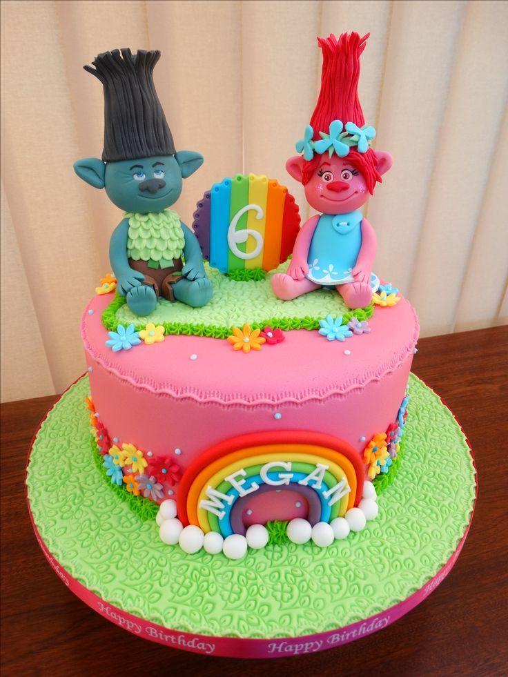 Trolls Poppy Amp Branch Cake Xmcx Birthday Cake Ideas