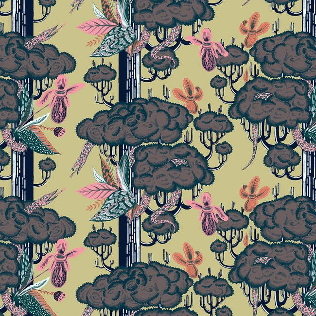 Garden of Eden | Wallpapers vintage, Colorful wallpaper ...