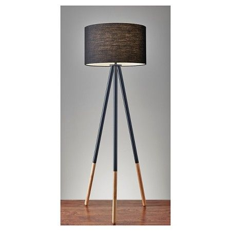 In Love With This Lamp Adesso Louise Floor Lamp Black Black Floor Lamp