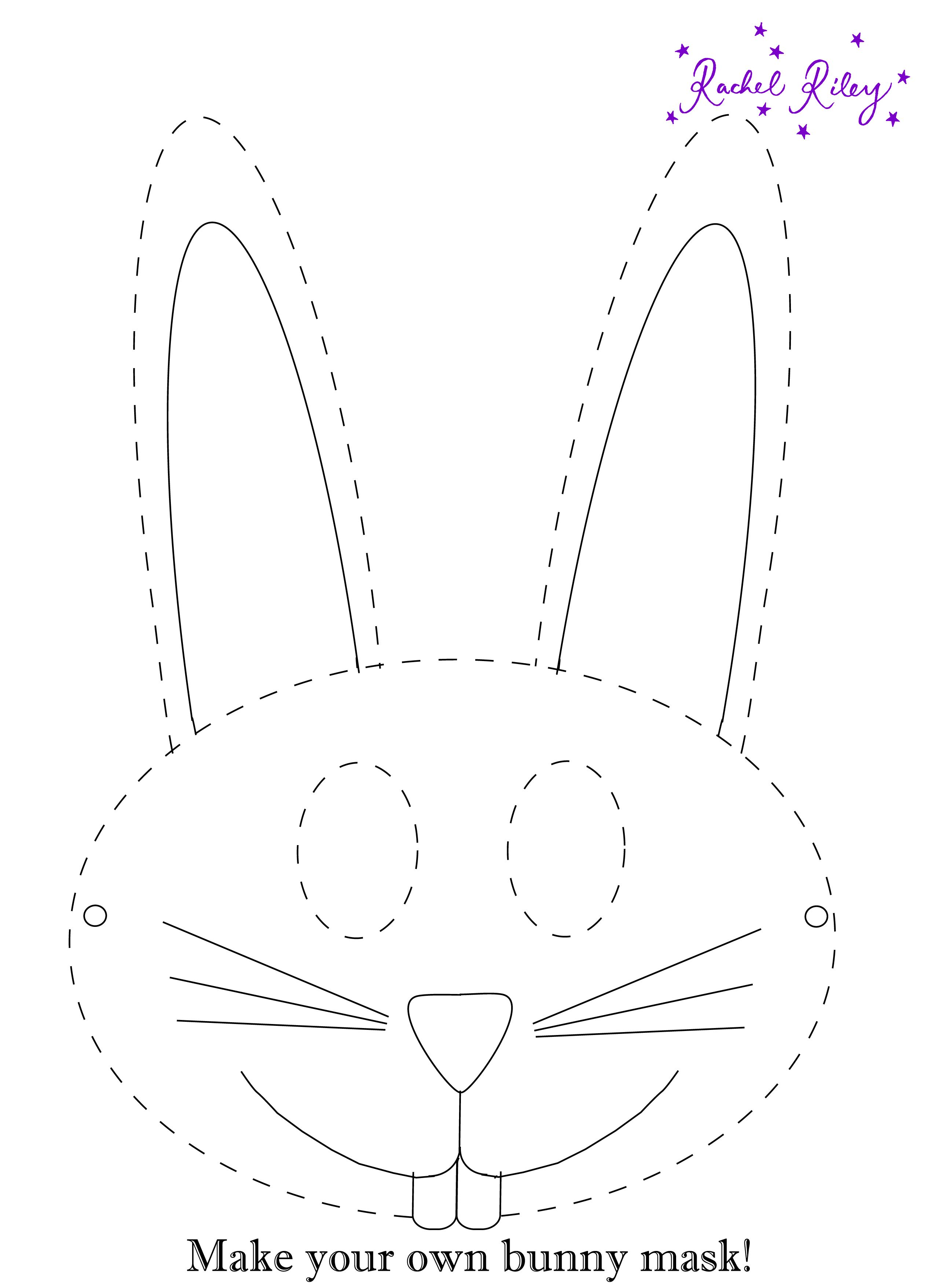 Rachel Riley Activity - Bunny Mask  Print Out And Make Your Own Mask For Easter