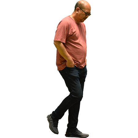 This Cutout Image Of A Man Shuffling His Feet And Looking At The Ground Could Pop Right Into Your Rendering Project Render People People Cutout People Poses