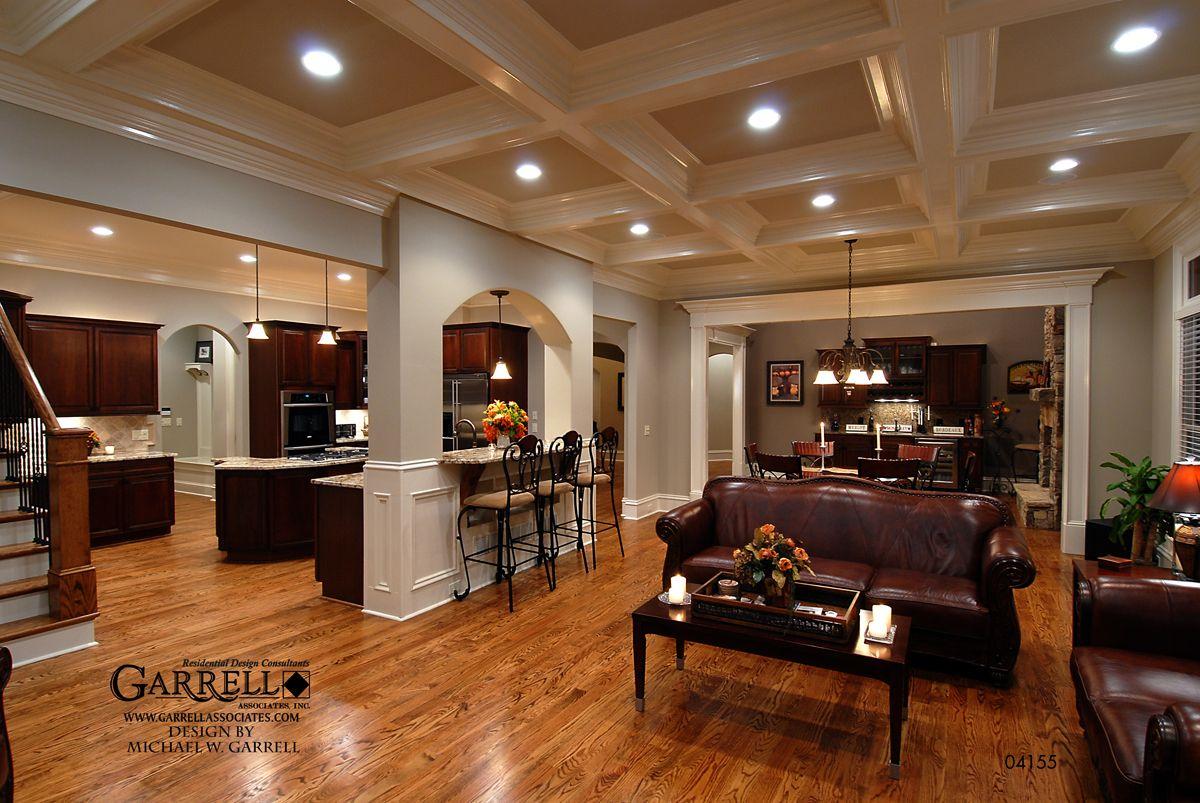 Living Room And Kitchen Design Spring Glen Cottage House Plan 04155family Room Kitchengarrell