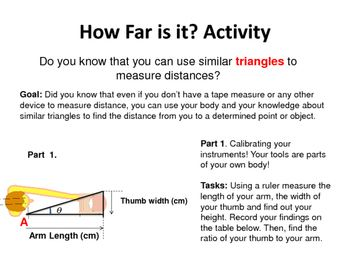 This Is A Great Activity To Apply Triangles Similar In A Real