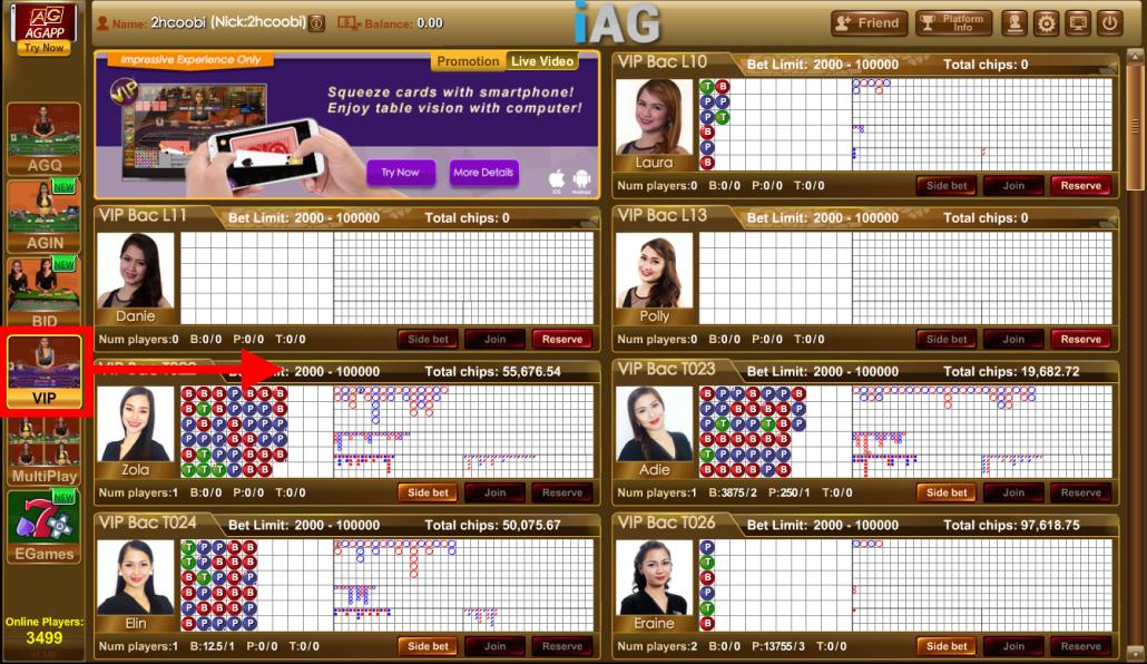 Online Casino iAG live casino VIP Baccarat Game Online