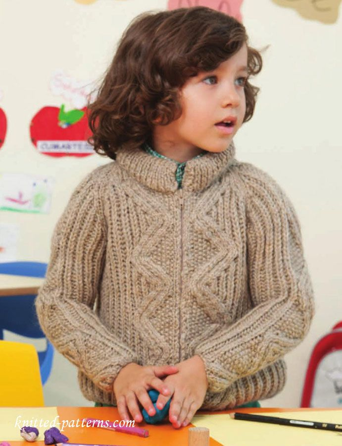 Boy\'s raglan jacket knitting pattern free | Homemade | Pinterest ...