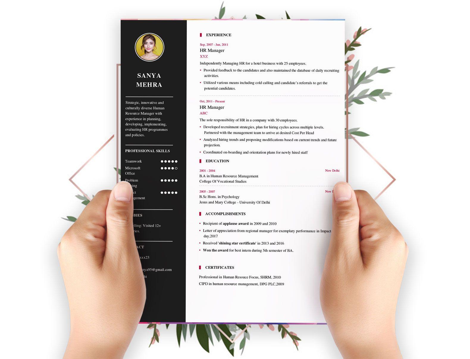 Free Resume Builder Pick Best Resume Format 2018 Download