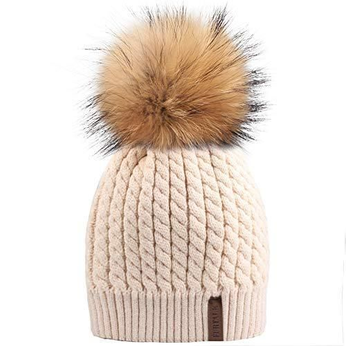 e0ec34c51 Winter Beanie Hats for Women FURTALK Womens Warm Knit Fur Bobble Pom Pom Hat  #winterfashion