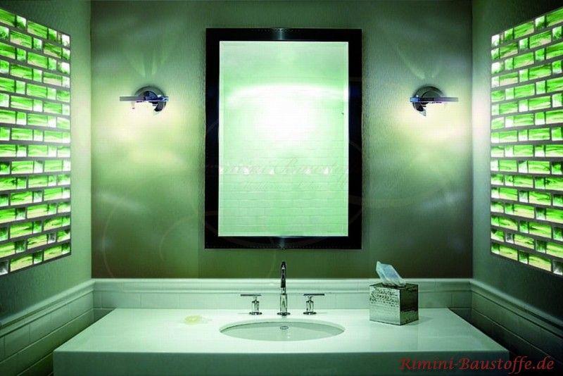 Glasbausteine Pietre di Vetro #Farbe Cloud Verde. Modern wirkendes ... | {Glasbausteine dusche led 63}