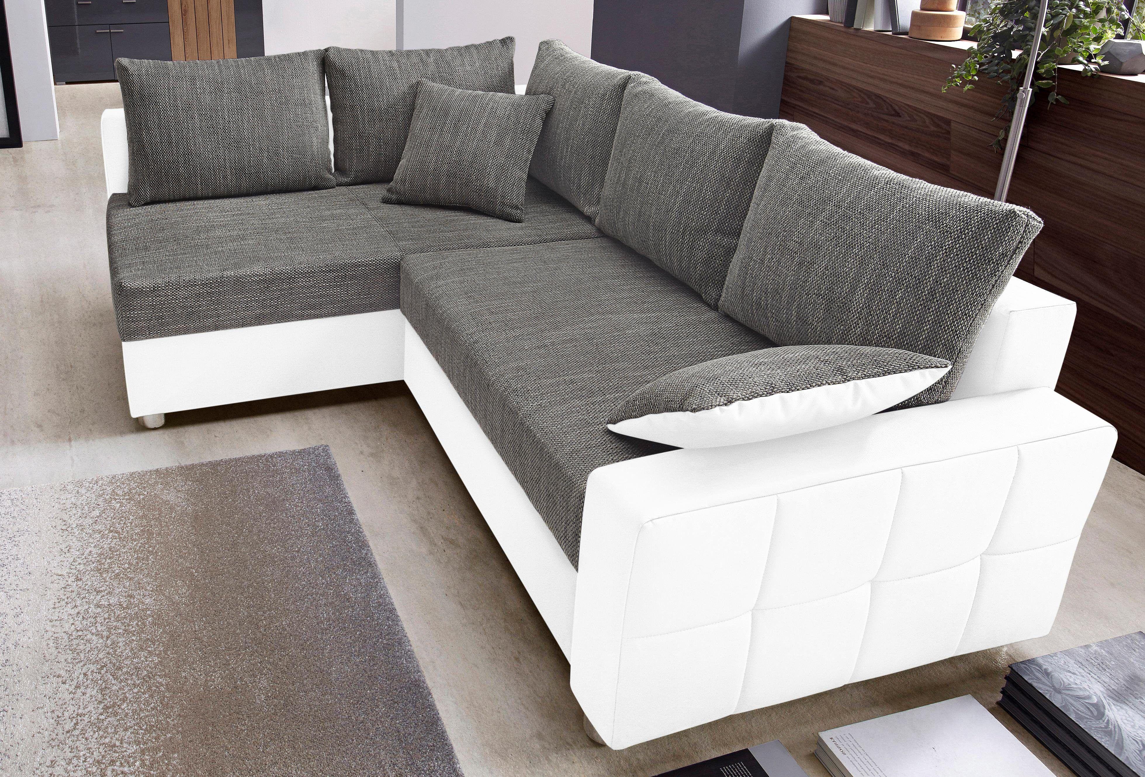 schlafsofa mit ottomane und bettkasten recamiere roger x. Black Bedroom Furniture Sets. Home Design Ideas
