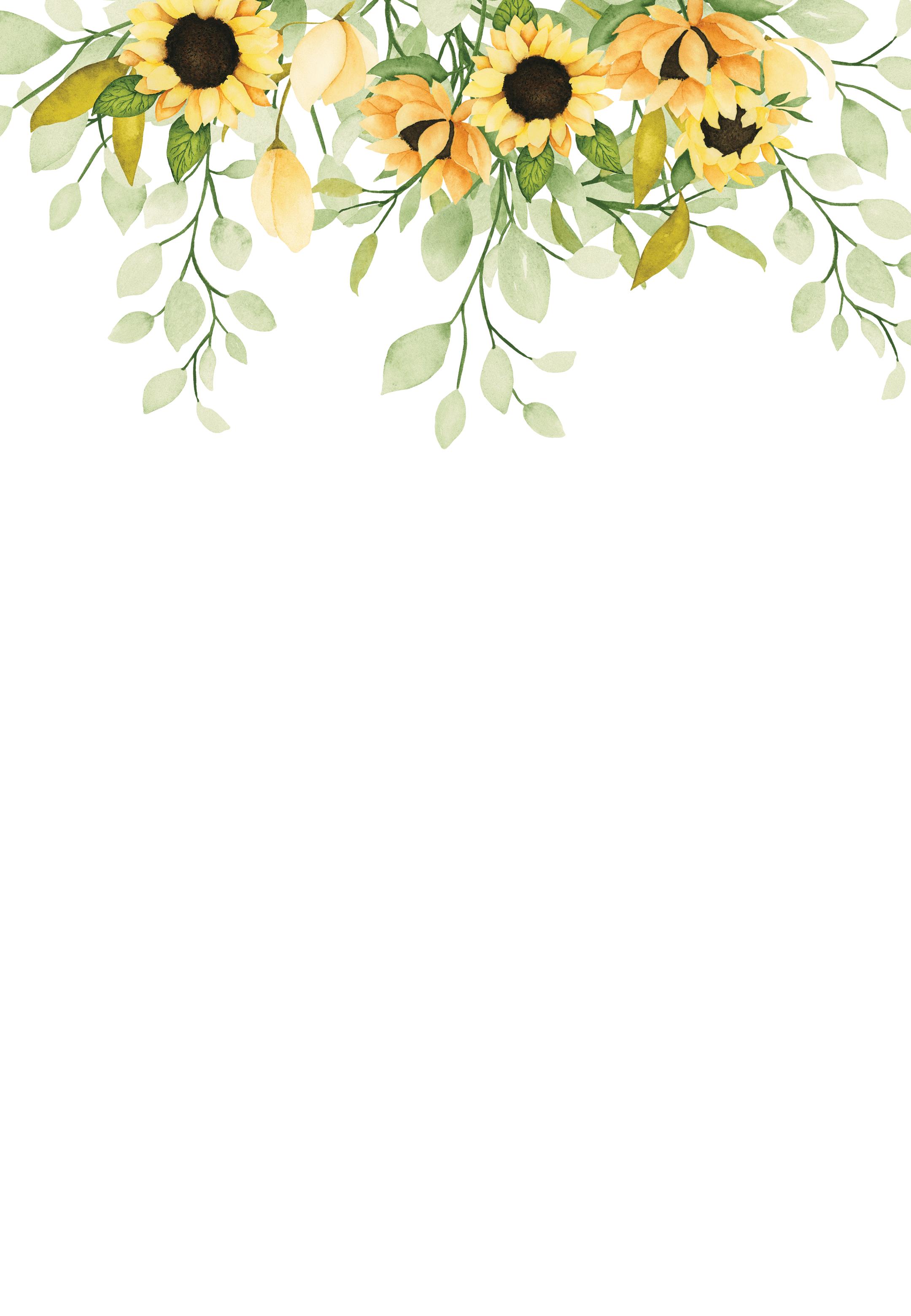 Soft Pastel Sunflower - Wedding Invitation Template | Greetings Island