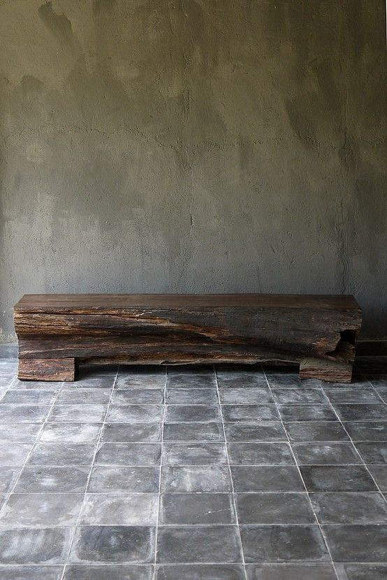 Wood bench by janis