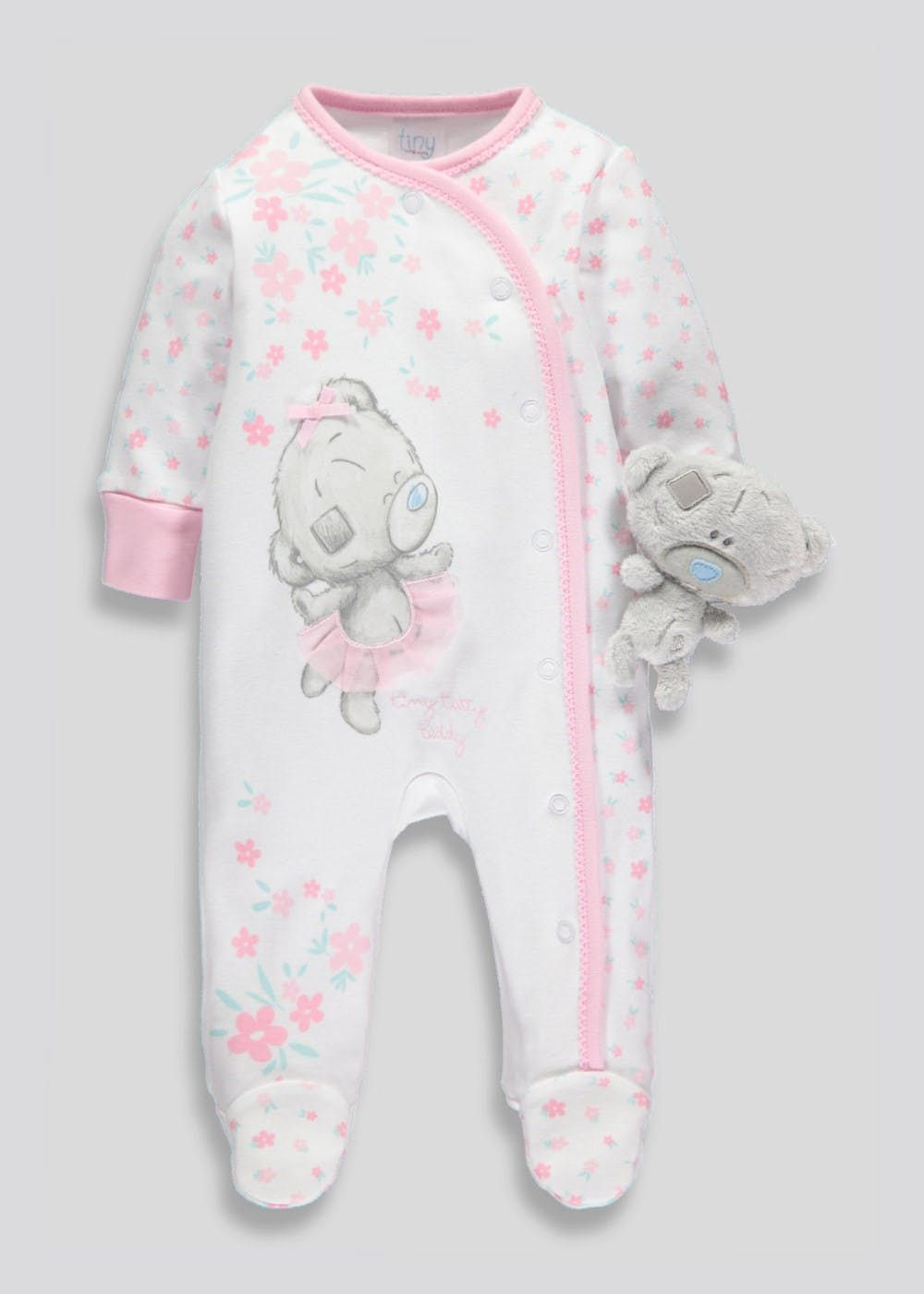 1f53a861e Unisex Tatty Teddy Sleepsuit (Tiny Baby-6mths) – Pink