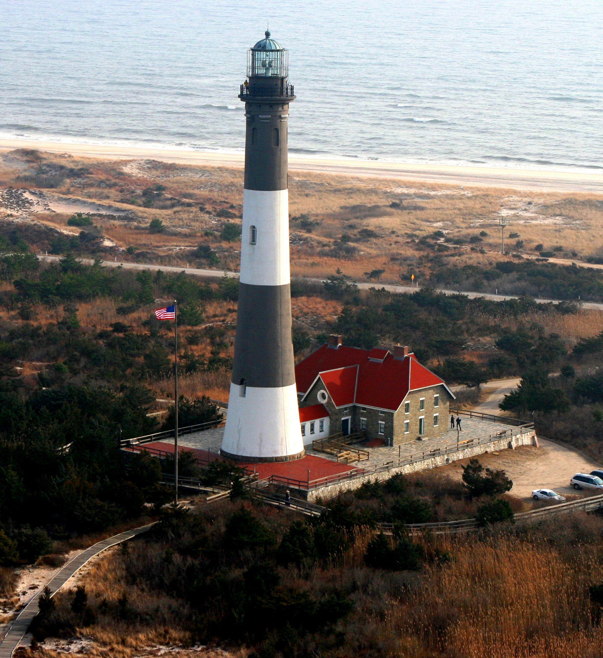 Ocean Beach Fire Island: Long Island Lighthouse ..Looking Towards The Atlantic Ocean