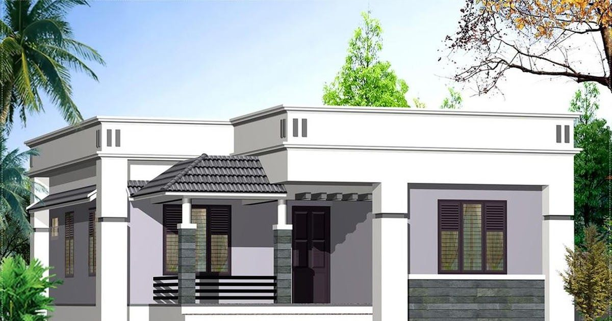 Low Cost Single Story House Plans Simple Health Insurance Contemporary House Kerala Single Fl Kerala House Design Building Plans House Home Design Floor Plans