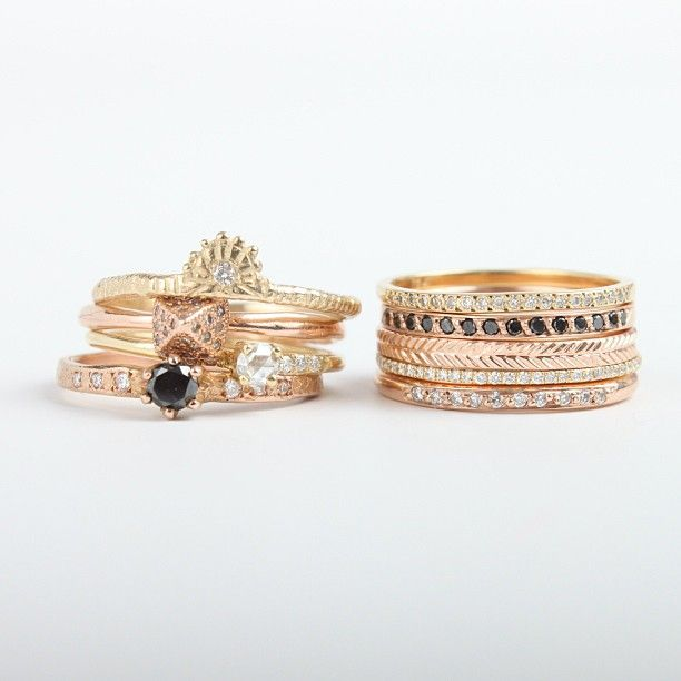 catbird wedding stacks, would make a great bridesmaid gift too | #weddingring #stackingring #bridesmaidgift