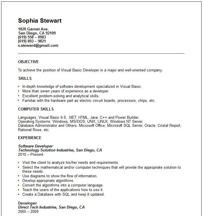 Basic Resume Examples Templates Cpics  Home Design Idea