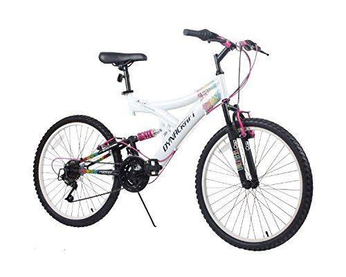 Complete Cruiser Bikes Dynacraft Womens 24 21 Speed Rip Curl Bike 17one Size Whiteblackpink Detai Mountain Bike Girls Full Suspension Mountain Bike Bicycle